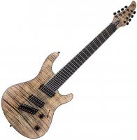 Guitare électrique multi-scale Mayones guitars Regius VF 8 (Swamp Ash, Bare Knuckle) - Jeans black