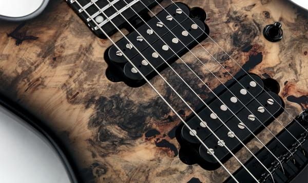 Guitare électrique solid body Music man Jason Richardson 7-string Cutlass - black burst