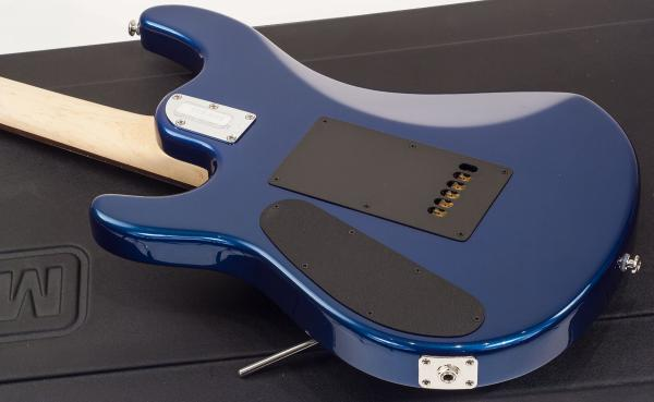 Guitare électrique solid body Music man John Petrucci JP6 Matching Headtock - blue pearl
