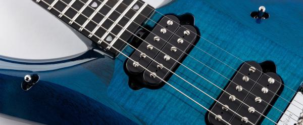Guitare électrique solid body Music man John Petrucci Majesty 2019 - blue honu