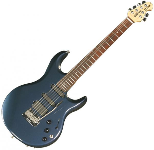 guitare lectrique solid body music man steve lukather luke ii piezo carbon blue pearl bleu. Black Bedroom Furniture Sets. Home Design Ideas