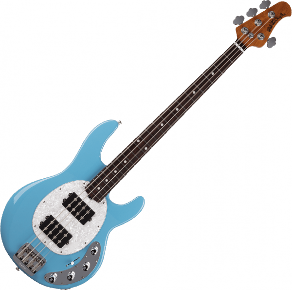 Basse électrique solid body Music man Stingray Special HH - chopper blue