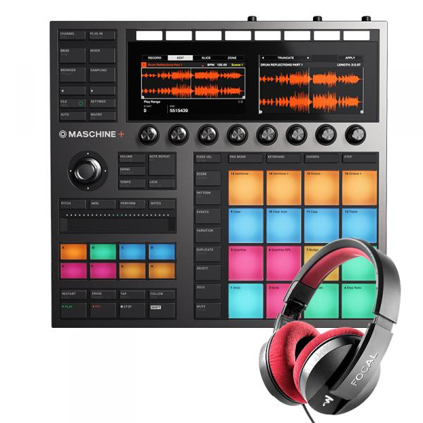 Sampleur / groovebox Native instruments MASCHINE + ET CASQUE FOCAL LISTEN PRO