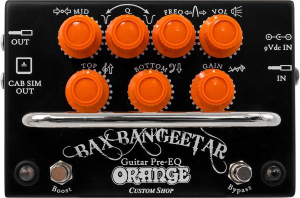 Pédale overdrive / distortion / fuzz Orange Bax Bangeetar Guitar Pre-EQ - Black