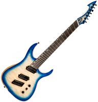 Guitare électrique multi-scale Ormsby Hype GTR 7 Swamp Ash - Azzurro blue