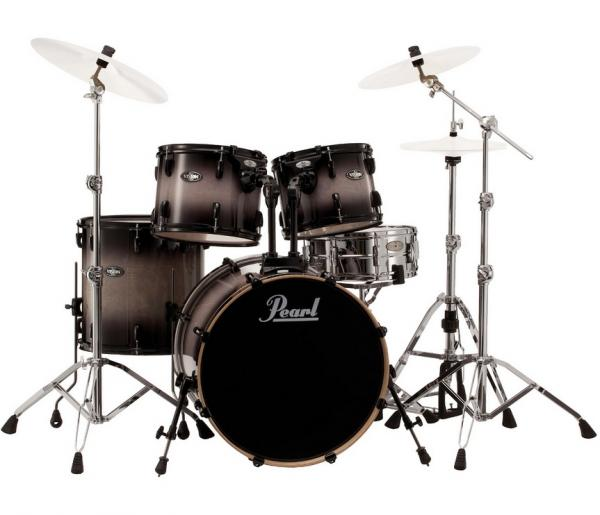 Batterie acoustique fusion Pearl VBL905B 238 Vision Birch Fusion 20 Black Burst - 5 fûts - Black burst
