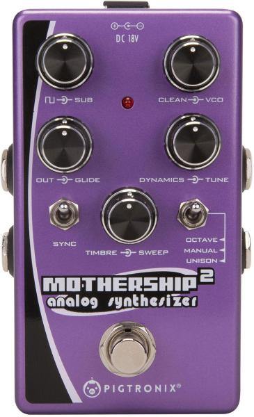 Pédale synthétiseur guitare Pigtronix Mothership 2 Analog Synthesizer