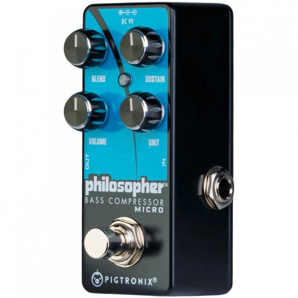 Pédale compression / sustain / noise gate Pigtronix Philosopher Bass Compressor Micro