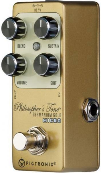 Pédale compression / sustain / noise gate  Pigtronix Philosopher's Tone Germanium Gold Micro