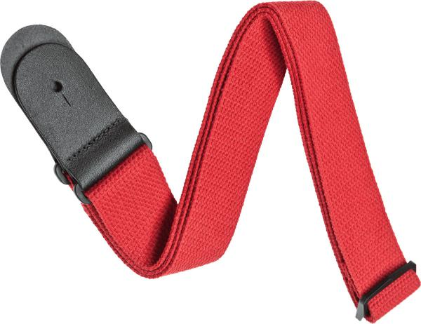 Sangle courroie Planet waves 50CT05 Woven Cotton Guitar Strap - Red