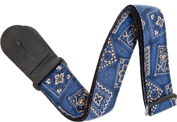 Courroie sangle Planet waves 50G03 Woven Polypropylene Rock Guitar Strap - Bandana Blue