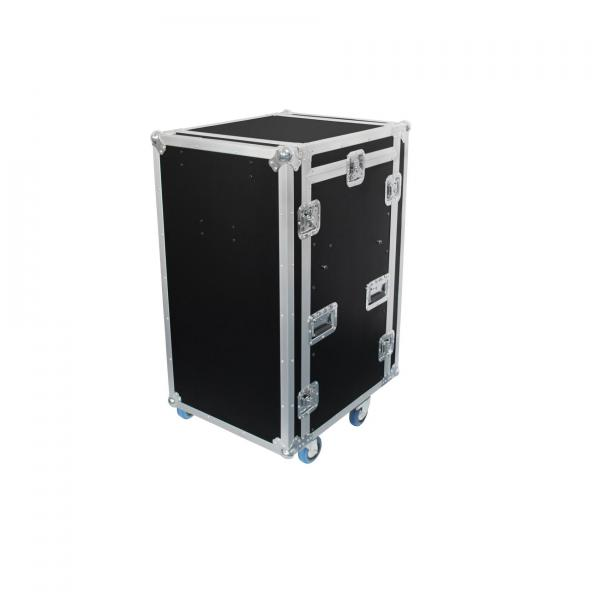 Flight dj Power acoustics Flight case 12U DS + 3U + 2 tablettes