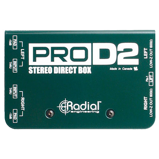 Boitier direct / di Radial ProD2 Stereo Direct Box