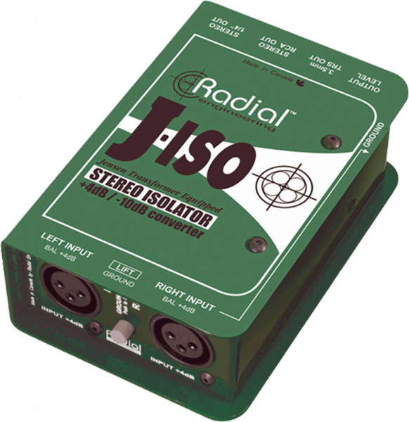Convertisseur Radial PRO ISO STEREO +4/-10dB