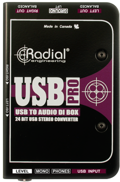 Boitier direct / di Radial USB-Pro