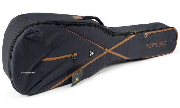 Housse guitare électrique Ritter Session RGS7-SA 335 Guitar Bag - Misty Grey & Leather Brown