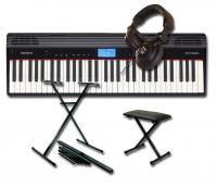 Pack clavier synthétiseur Roland GO:Piano 61P + STAND + BANQUETTE + CASQUE