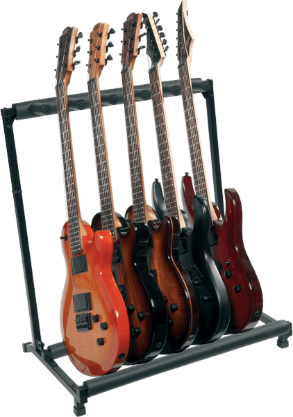 Stand & support guitare & basse Rtx X5GN En Kit pour 5 Guitares