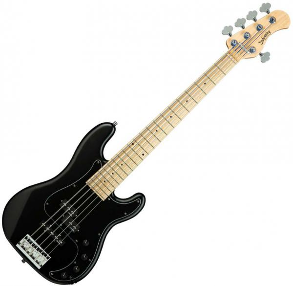 Basse électrique solid body Sadowsky Hybrid P/J Bass 5 Ash Metroline 21-Fret (Germany, MN) - Solid black satin