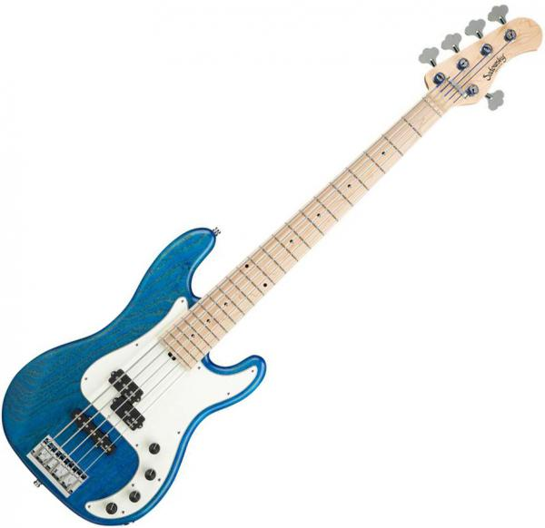 Basse électrique solid body Sadowsky Hybrid P/J Bass 5 Ash Metroline 21-Fret (Germany, MN) - Blue transparent satin