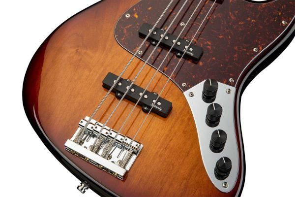 Basse électrique solid body Sadowsky J/J Bass 4 Alder Metroline 21-Fret Vintage (Germany, MOR) - '59 burst transparent