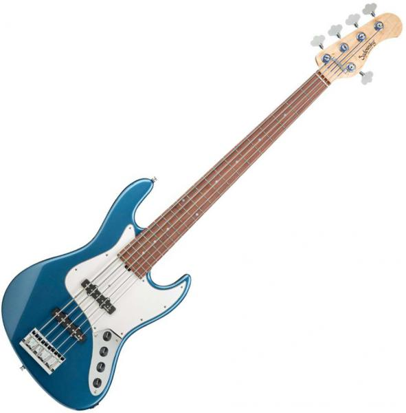 Basse électrique solid body Sadowsky J/J Bass 5 Alder Metroline 21-Fret Vintage (Germany, MOR) - Dark lake placid blue metallic