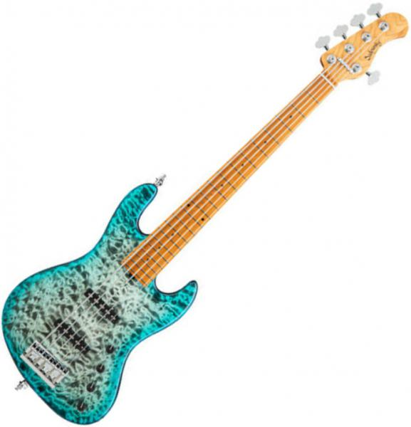 Basse électrique solid body Sadowsky J/J Bass 5 Metroline 21-Fret Standard Ltd (Germany, MN) - Whale blue trans satin burst