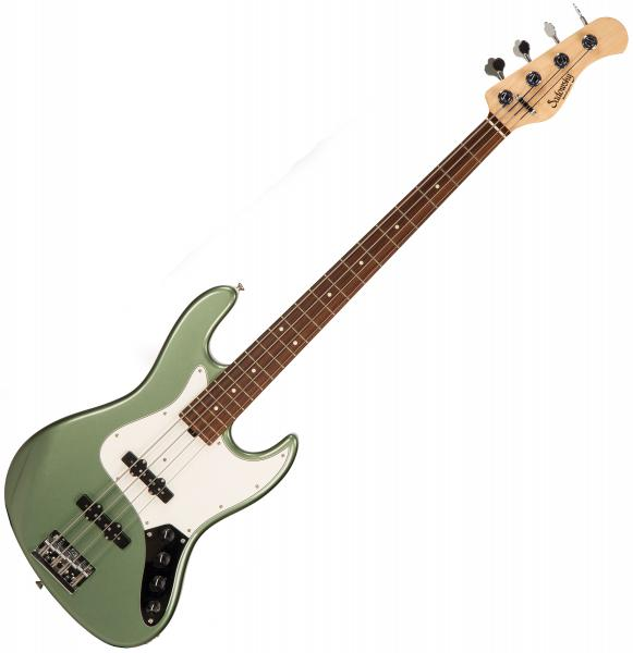 Basse électrique solid body Sadowsky RV4E MetroExpress Vintage Japan (PF) - sage green metallic