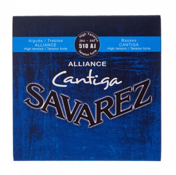 Cordes guitare classique nylon Savarez 510AJ Alliance Cantiga High Tension - Jeu de 6 cordes