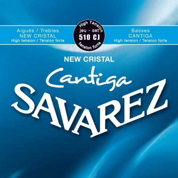 Cordes guitare classique nylon Savarez 510CJ  Cantiga High Tension - Jeu de 6 cordes