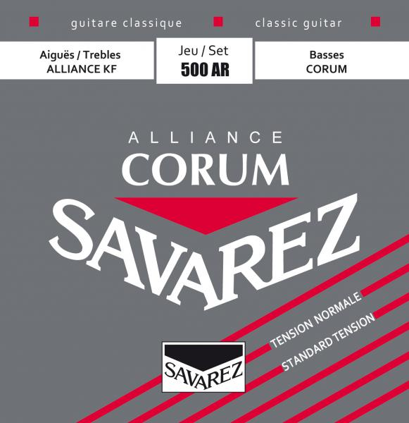 Cordes guitare classique nylon Savarez Classic (6)  500AR corum alliance red - tension normale - Jeu de 6 cordes