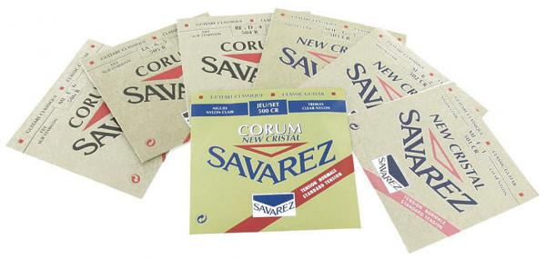 Cordes guitare classique nylon Savarez New Cristal Corum Normal Tension 500CR - jeu de 6 cordes