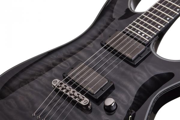 Guitare électrique solid body Schecter Hellraiser Hybrid C-1 - trans blackburst