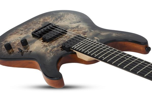 Guitare électrique solid body Schecter C-6 Pro - charcoal burst