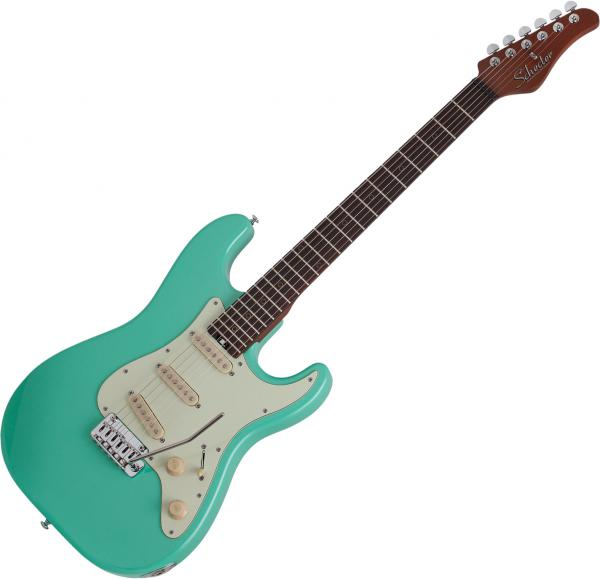 Guitare électrique solid body Schecter Nick Johnston Traditional - atomic green