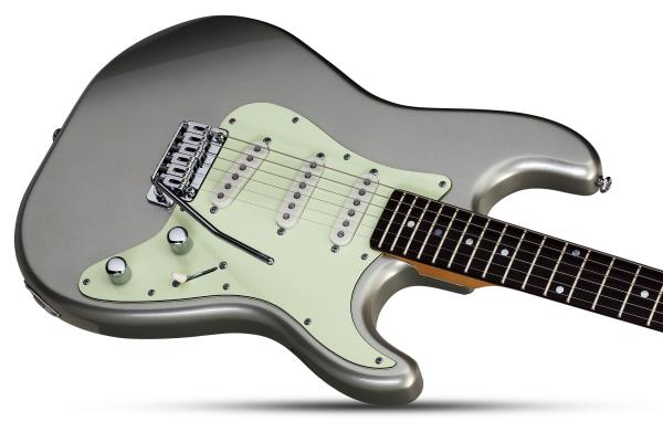 Guitare électrique solid body Schecter Nick Johnston Traditional - atomic silver