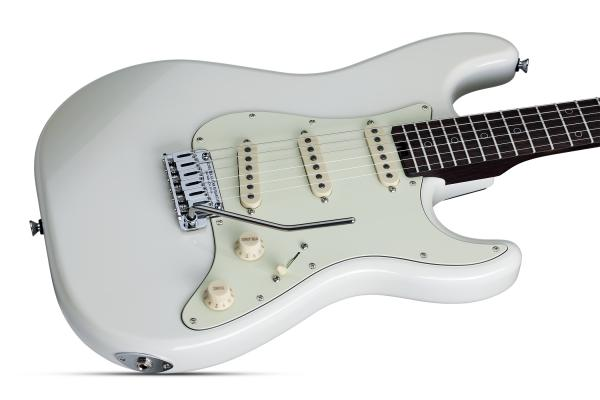 Guitare électrique solid body Schecter Nick Johnston USA - atomic snow