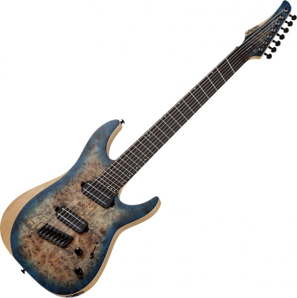 Guitare électrique multi-scale Schecter Reaper-7 Multiscale - Satin Sky Burst