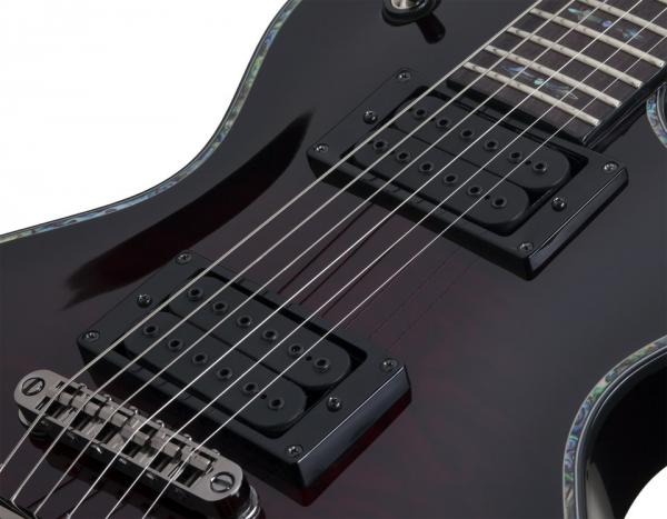 Guitare électrique solid body Schecter Solo-II Passive Hellraiser - black cherry burst