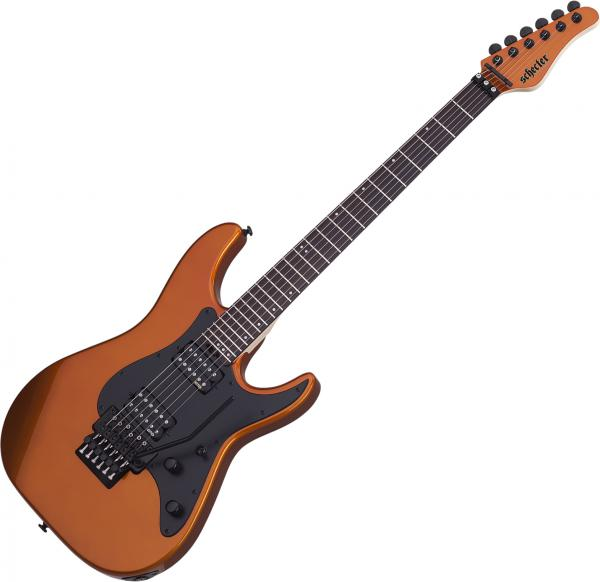 Guitare électrique solid body Schecter Sun Valley Super Shredder FR - lambo orange