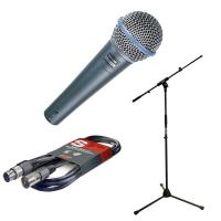 Pack micro avec pied Shure BETA58 + STAND + CABLE