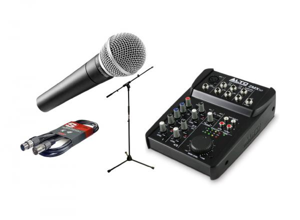Pack micro avec pied Shure Pack SM58 + ZMX52 + Pied + Câble