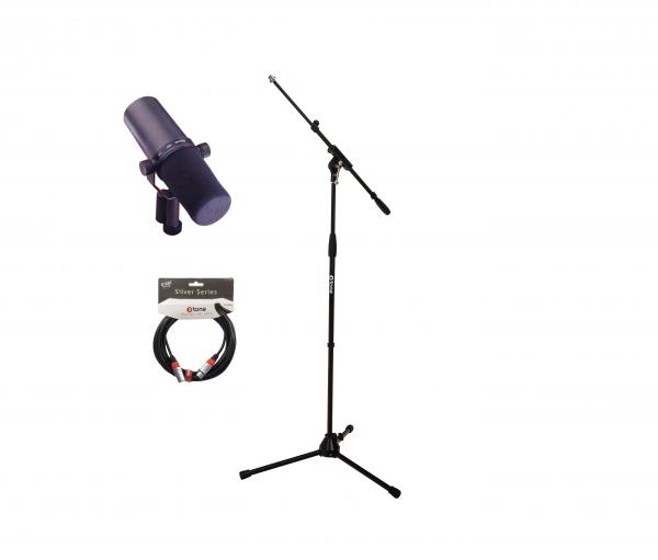 Pack micro avec pied Shure SM7B + Stand + cable