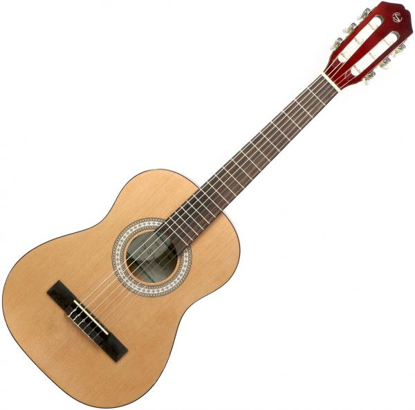 Pack guitare classique Silvanez CL-12 NAT + housse + accordeur + capodastre + stand - natural gloss