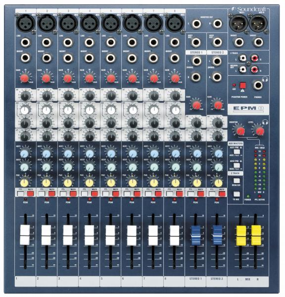 Table de mixage analogique Soundcraft EPM8