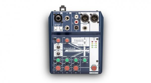 Table de mixage analogique Soundcraft NotePad-5