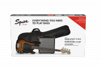 Pack basse electrique Squier Affinity Series Precision Bass PJ Pack (LAU) - Brown sunburst