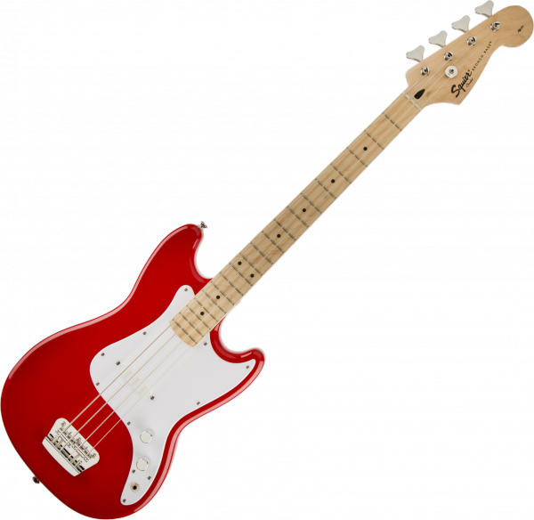 Basse électrique short scale Squier Bronco Bass (MN) - Torino red