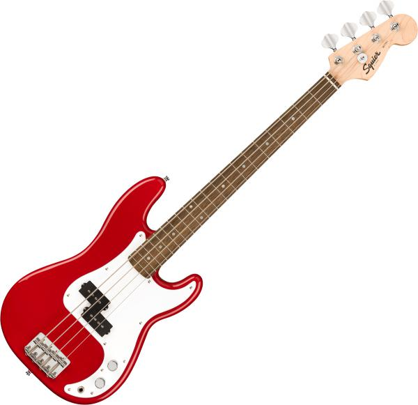 Basse électrique short scale Squier Bullet Mini Precision Bass (LAU) - dakota red