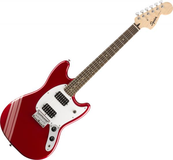 Guitare électrique solid body Squier Bullet Competition Mustang HH FSR Ltd - Candy apple red